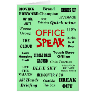 Funny Office Management Jargon - Birthday Leaving Card