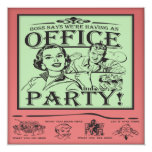 Funny Office Party 5.25x5.25 Square Paper Invitation Card