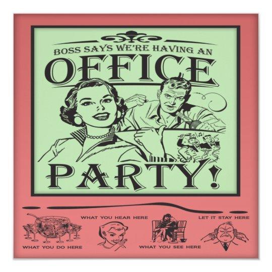 funny office party invitation zazzle com
