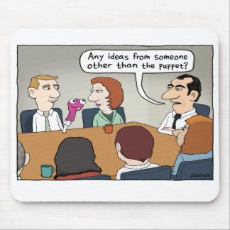 Funny Office Puppet Ideas Mousepad