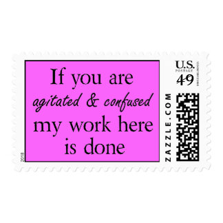 Funny office quotes joke humor postage stamps
