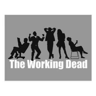 Funny office zombies: The Working Dead, Postcard