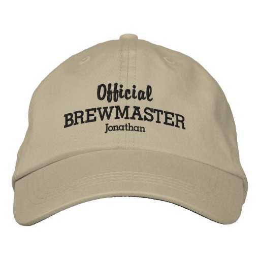 531905f3f28 Funny Official Brewmaster Beer Lover Custom Name Embroidered Baseball Hat
