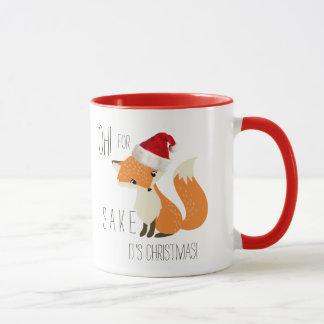 Funny Oh! For Fox Sake It's Christmas! Mug
