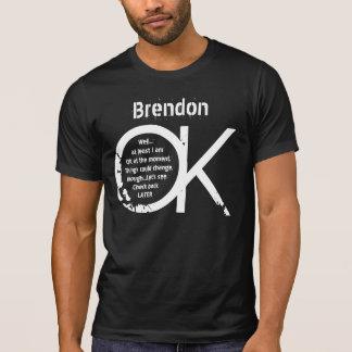Funny OK Grunge Text Custom Name V12 Shirt