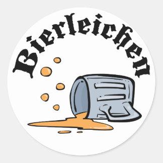 Funny Oktoberfest Bierleichen Classic Round Sticker