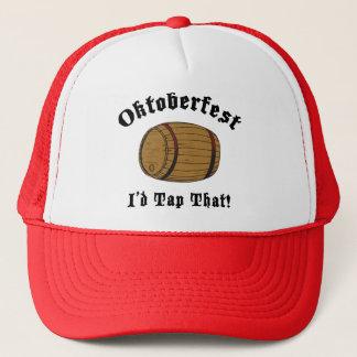 Funny Oktoberfest I'd Tap That Gift Trucker Hat