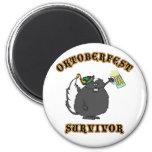 Funny Oktoberfest Survivor 2 Inch Round Magnet