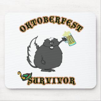 Funny Oktoberfest Survivor Mouse Pad