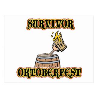 Funny Oktoberfest Survivor T-Shirts Postcard
