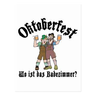 Funny Oktoberfest Where's The Bathroom Postcard