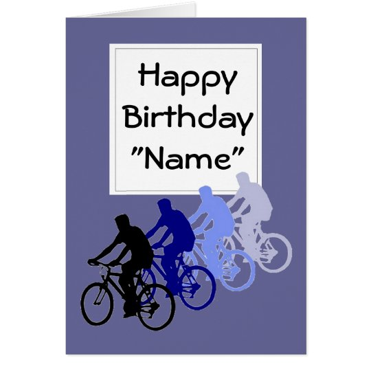 Funny Old Age, Birthday, Bike, Cycle, Sport Card
