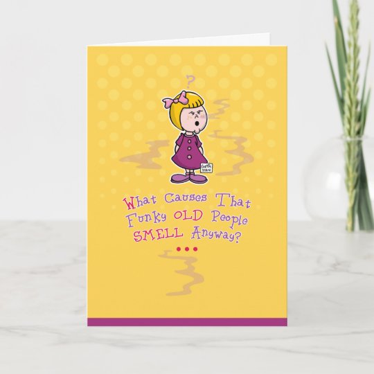 Funny Old Age Birthday Card Zazzle