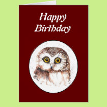 Funny Old Age, Over the Hill Birthday Owl Card