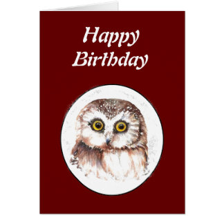 Funny Old Age, Over the Hill Birthday Owl Greeting Card