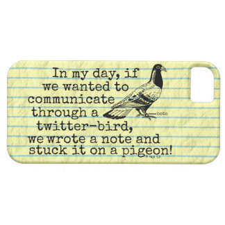 Funny Old Age Twitter Bird Pigeon iPhone 5 Case