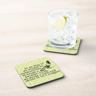 Funny Old Age Twitter Bird Pigeon Coasters