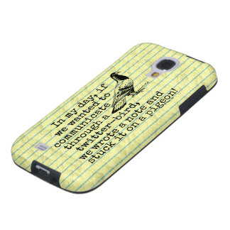 Funny Old Age Twitter Bird Pigeon Galaxy S4 Case