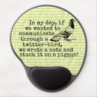 Funny Old Age Twitter Bird Pigeon Gel Mouse Pad
