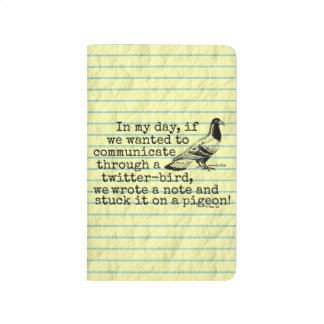 Funny Old Age Twitter Bird Pigeon Journal