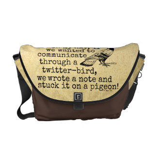 Funny Old Age Twitter Bird Pigeon Messenger Bag