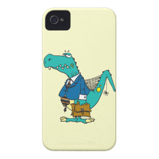 funny old dinosaur cartoon character Case-Mate iPhone 4 case