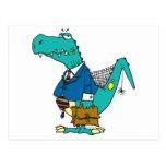 funny old dinosaur cartoon character postcards