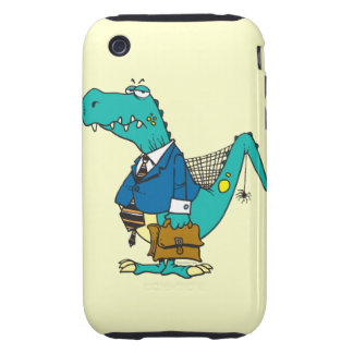 funny old dinosaur cartoon character tough iPhone 3 case