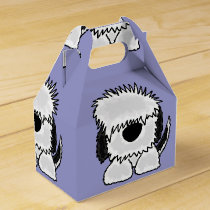 Funny Old English Sheepdog Art Favor Box