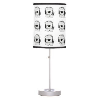 Funny Old English Sheepdog Art Table Lamp
