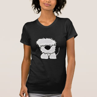 Funny Old English Sheepdog Cartoon T-Shirt