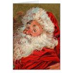 Funny Old Fashion Santa Christmas Card