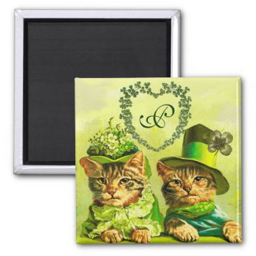 Wedding Themed FUNNY OLD FASHION ST.PATRICK'S DAY CATS HEART MAGNET