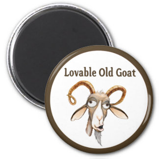 Funny Old Goat 2 Inch Round Magnet