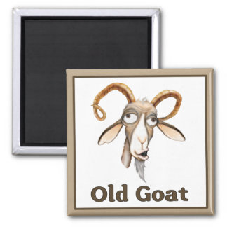 Funny Old Goat 2 Inch Square Magnet