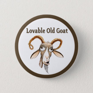 Funny Old Goat Button