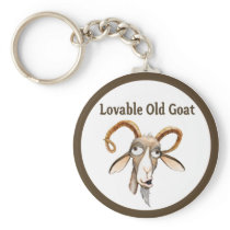 Funny Old Goat Keychain