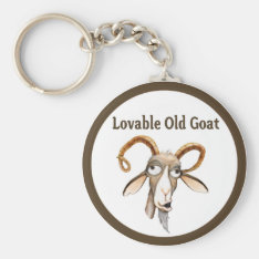 Funny Old Goat Keychain at Zazzle