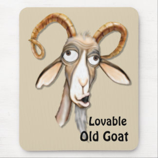 Funny Old Goat Mouse Pad