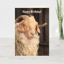 """Funny """"Old Goat"""" Quote Birthday Card"""