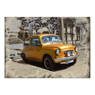 Funny old gold car card
