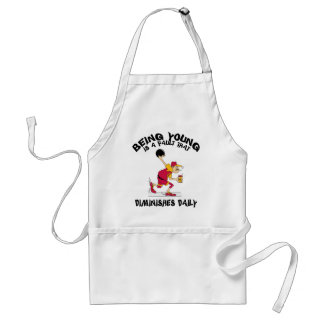 Funny Old Grandpa Bowler Gift Adult Apron