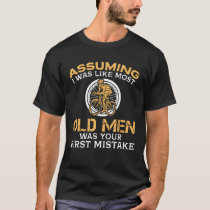 Funny Old Men Who Loves Cycling T-Shirt