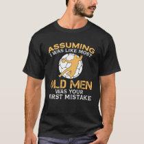 Funny Old Men Who Loves Handball T-Shirt