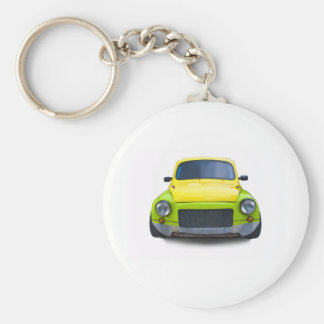 funny old modified car keychain