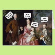 Funny Old Painting Card