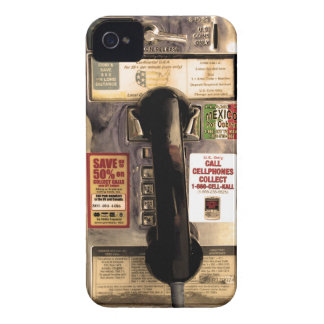 Funny Old Pay Phone iPhone 4 Case-Mate Case