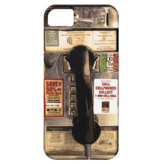 Funny Old Pay Phone iPhone 5 Case