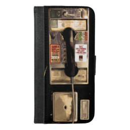 Funny Old Pay Phone iPhone 6/6s Plus Wallet Case