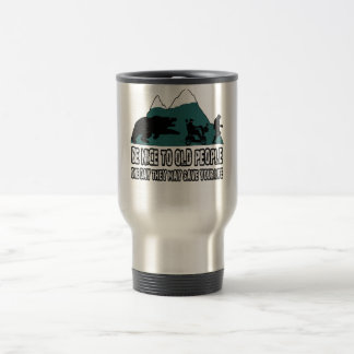 Funny old people 15 oz stainless steel travel mug